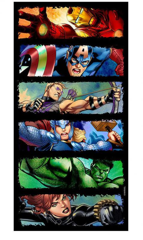 Avengers bath towel